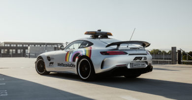 """Bernd Mayländer na Veľkej cene Rakúska predviedol nové oficiálne vozidlo FIA F1 Safety car: ,,WeRaceAsOne"""""""